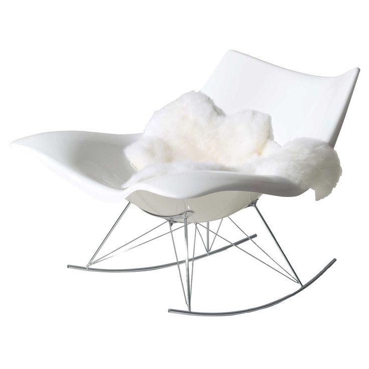 Stingray keinutuoli, valkoinen ryhmässä Huonekalut / Nojatuolit / Nojatuolit @ ROOM21.fi (101530)