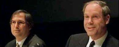 Steve Jobs and Michael Eisner.