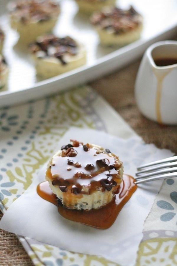 Cheesecake tortuga   31 Bocadillos divertidos que puedes hacer utilizando un molde para muffins