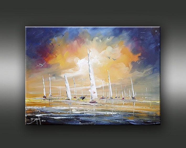Au milieu de l'océan by BRUNI Eric Vente de tableaux en ligne- Galerie de l'artiste peintre Bruni Eric.
