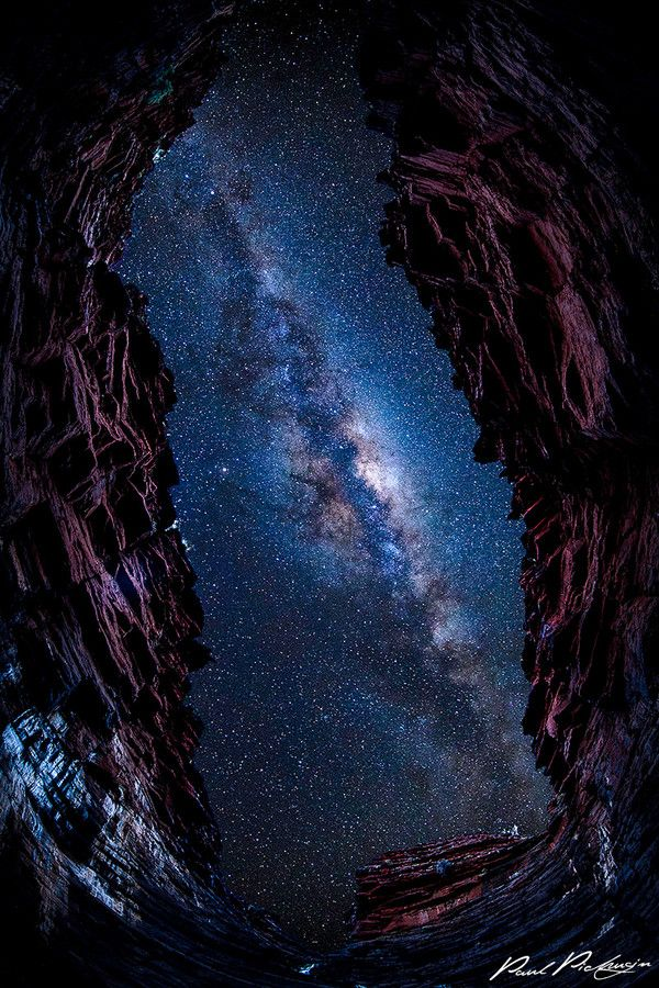 ~~Eye to the Galaxy ~ view from a gorge of a Milky Way night sky, Karijini National Park, Western Australia by Paul Pichugin~~
