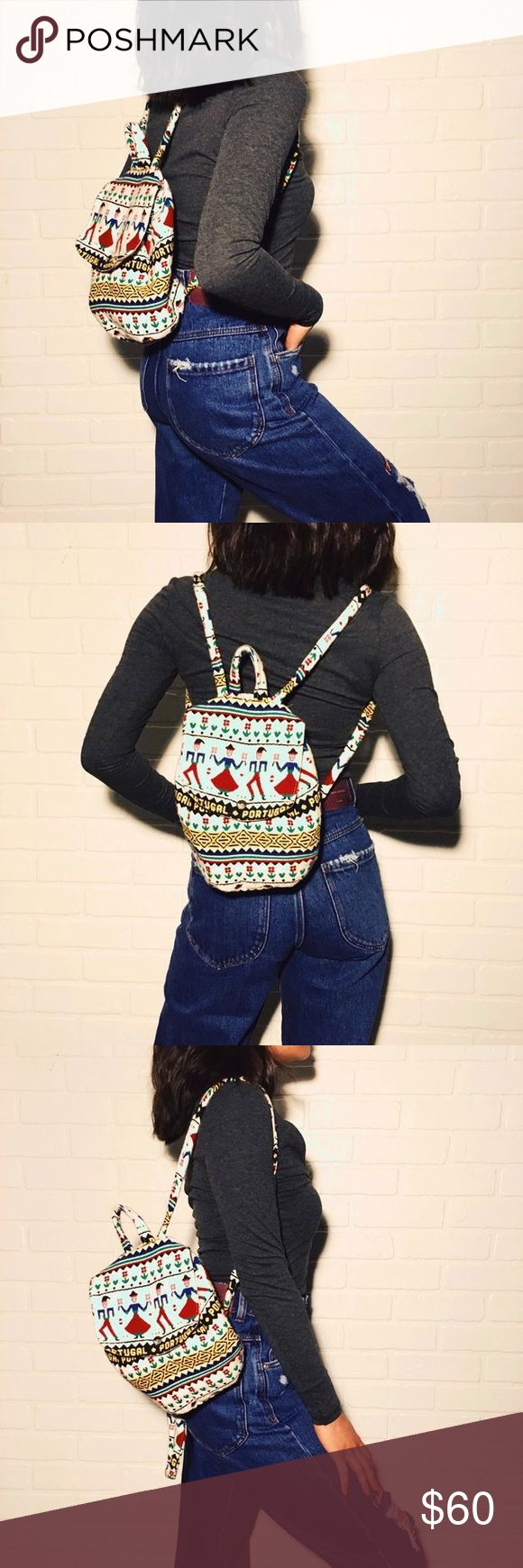 🆕 Funky Mini Backpack ❤ Funky Mini Backpack. This little backpack is the perfect size to carry your phone, wallet, and other little essentials. Great for upcoming concert season! Super unique and adorable with its tribal print. #backpack #minibackpack vintage and one of a kind! Topshop Bags