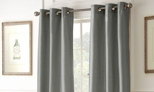 Get a few extra hours of sleep or keep room cooler with these black out curtains that can easily be hung with the included grommets