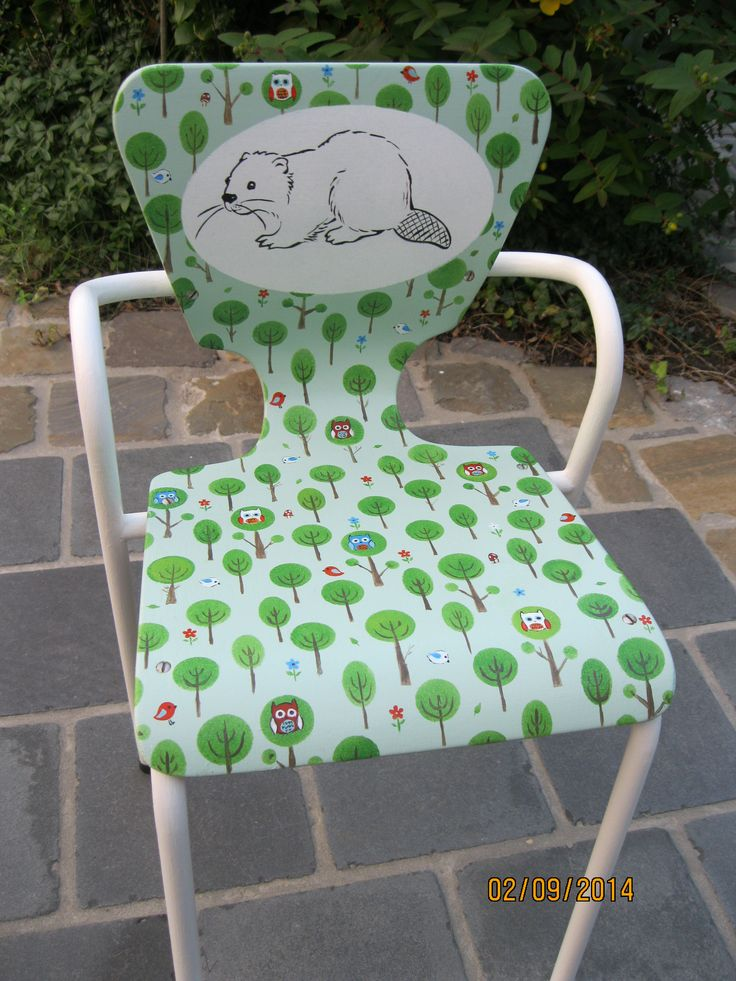 Handpainted chair Beverstoel kleuterklas