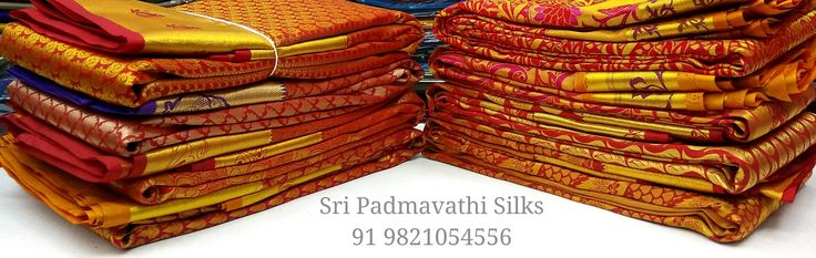 Ashlesha Collection - Abhirami Pattu Silk Bridal Brocade Sarees with patterns and designs in red for the beautiful bride. Book now 91 9821054556 Shop for your wedding day with us - sari collections for the bride to gifting. Sri Padmavathi Silks, the only South Indian store in Dombivli, Mumbai,Thane, Maharashtra. Kancheepuram handloom pure silk bridal brocade wedding sari shop in Mumbai, India. International shipping available. All credit and debit cards accepted. Wholesale orders accepted.