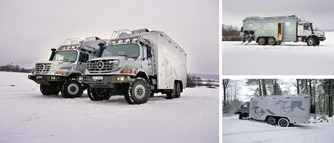 Mercedes-Benz Zetros 2733 Luxury Hunting And Expedition Vehicle - Front And Side View http://coolpile.com/rides-magazine/daimler-mercedes-benz-zetros-2733-luxury-hunting-expedition-vehicle/ via coolpile.com  #6X6 #AllTerrain #Hunting #Luxury #Mercedes #QuadBikes #RV #coolpile #RV