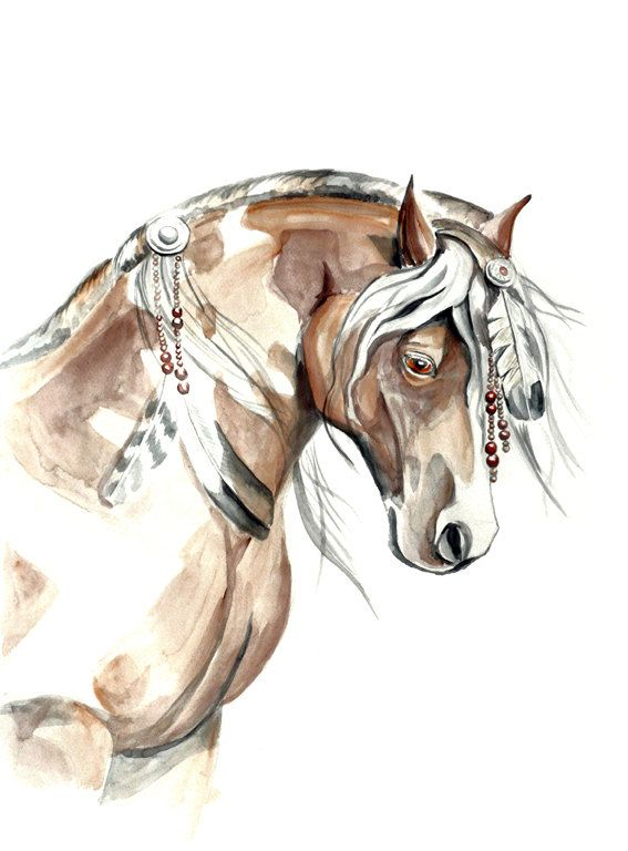 Mustang horse painting - photo#40