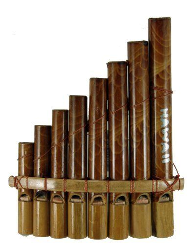 "Bamboo Pan Flute by Alii of Hawaii. $4.49. 6"" x 4 1/4"". Create some Polynesian music with our Bamboo Pan Flute, no skills required!"
