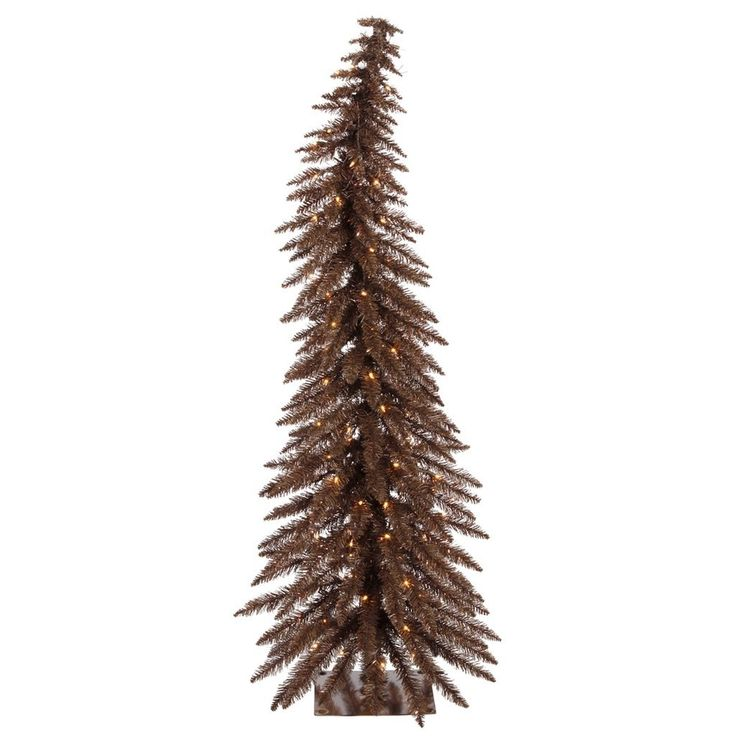 Buying Christmas trees online is more popular than  ever.  It is convenient, easy and very  affordable.  A great option for those  with Pine allergies.  I love the look of  artificial Christmas trees especially the pre-lit ones as they are the easiest.  I also love all the colors and types  available from tinsel trees to more abstract #Christmas trees for Xmas 2017       Vickerman Pre-Lit Whimsical Tree with 70 Clear Mini Lights, 4-Feet, Mocha