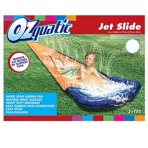 Slip, slidin' water fun! Massive 4.88 metres of slippery slide with multiple spray nozzles. Constructed from Heavy duty materials it easily connects to...