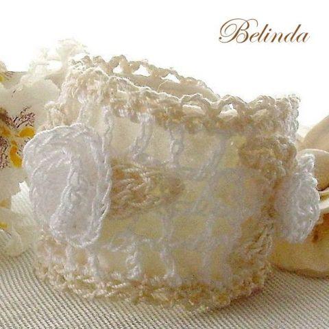 Morning in the arbor - crochet bracelet, Belinda, meska.hu