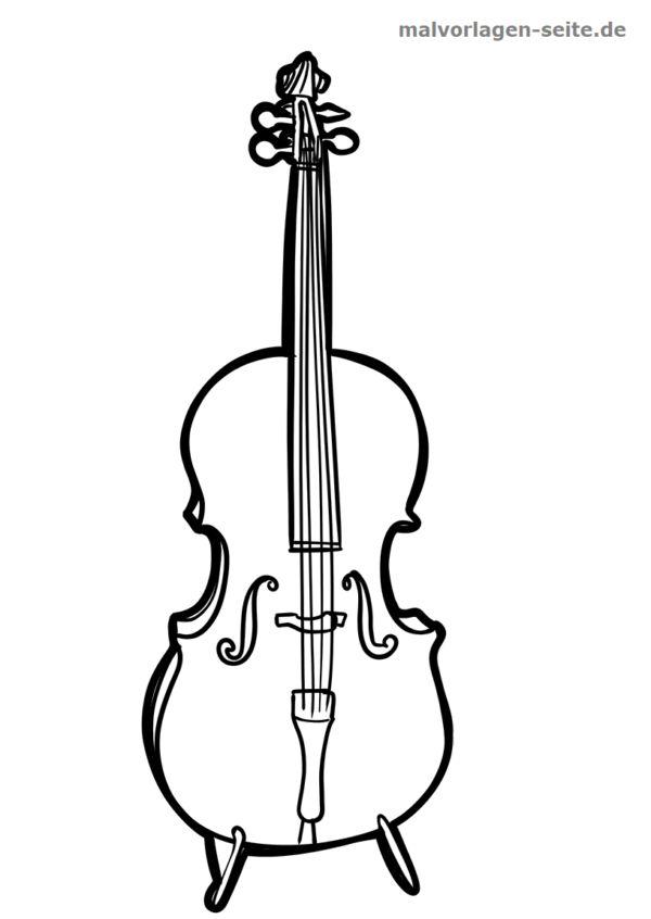 malvorlage cello  malvorlagen cello und vorlagen