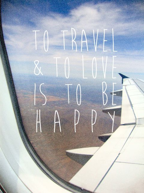 To travel and to love is to be happy. #travel #quotes