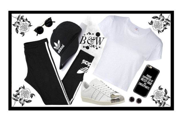 """Untitled #8"" by luc-ka on Polyvore featuring RE/DONE, adidas, Forever 21, Casetify and Kobelli"