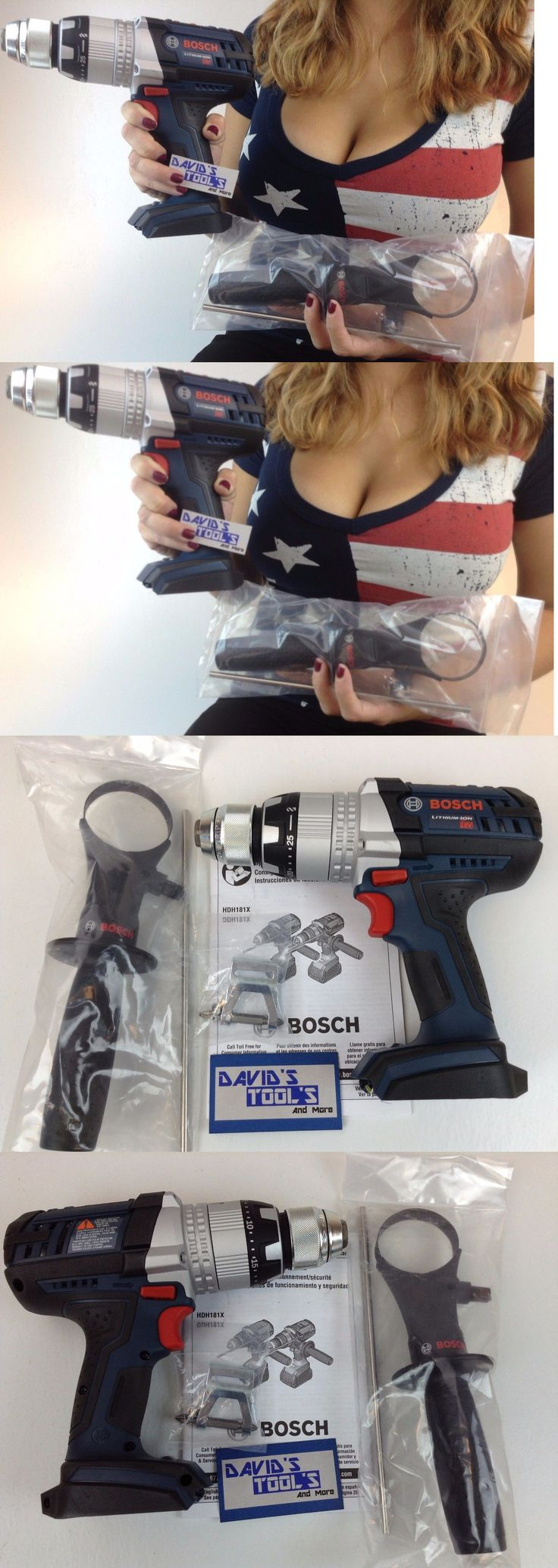 Cordless Drills 71302: New Bosch Hdh181xb 18V Li-Ion 1 2 Cordless Hammer Drill With Active Response -> BUY IT NOW ONLY: $115.55 on eBay!