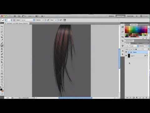 Painting Hair Photoshop Demo