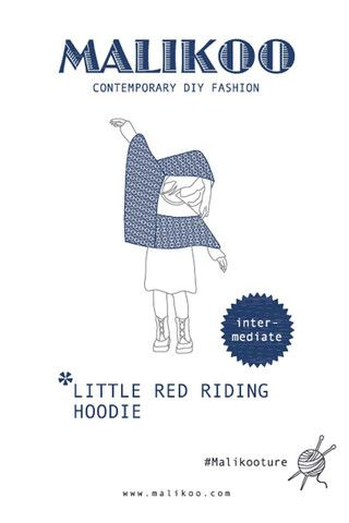 Little Red Riding Hoodie Knitting Pattern – Malikoo
