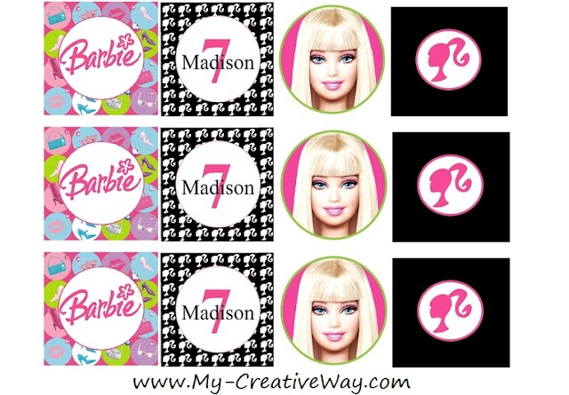 17 Best Images About Barbie Birthday Printables On