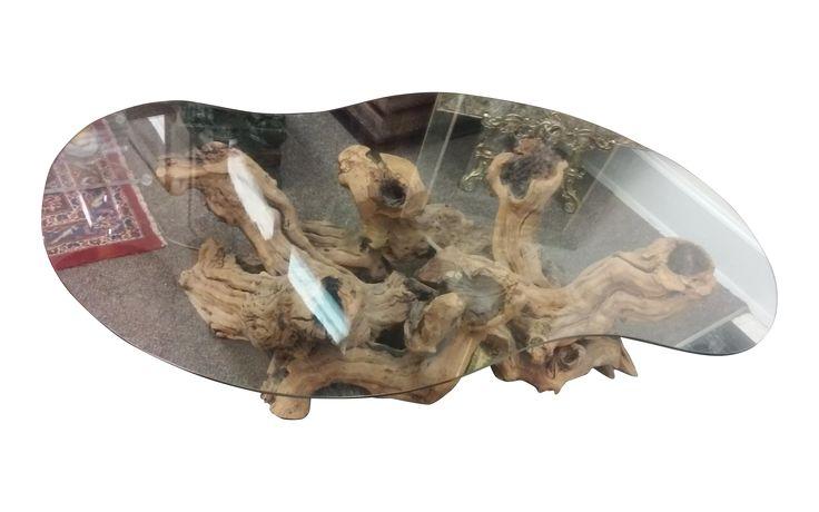 Mid-Century Modern Driftwood Coffee Table on Chairish.com