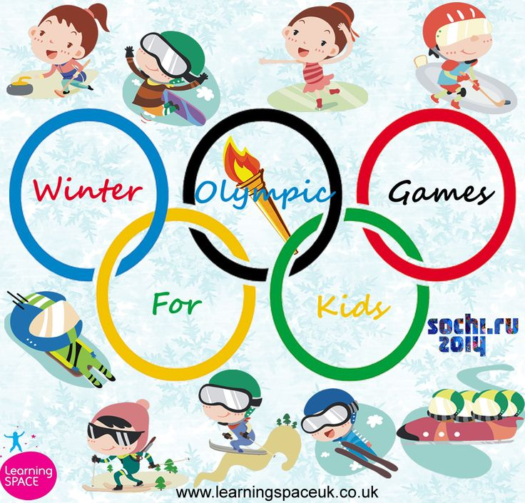 Winter Olympic Games 2014  Poster for kids www.facebook.com/LearningSPACE www.learningspaceuk.co.uk