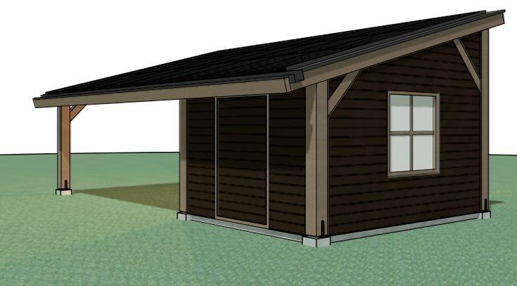 Bij een woonhuis in Diepenveen is een carport en schuur met zonnepanelen gerealiseerd geïnspireerd op de houtconstructie van oude boerderijen.