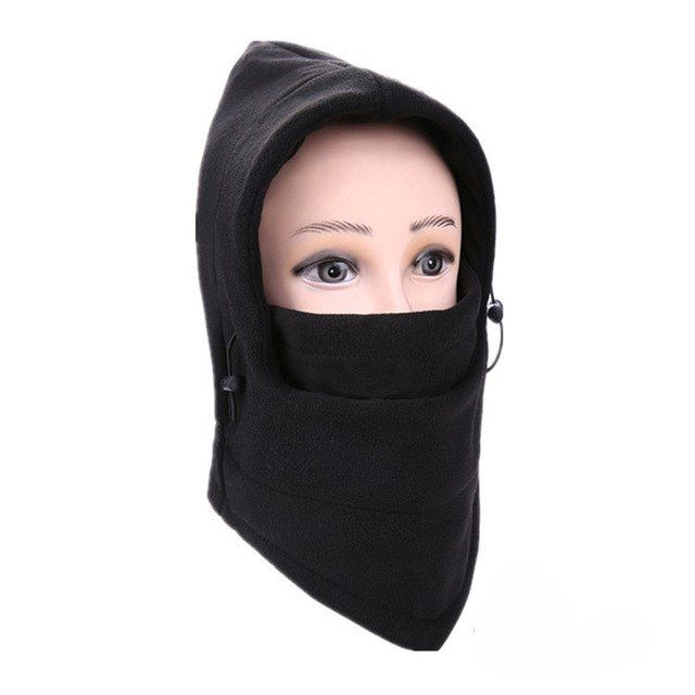 Outdoor Sport Bike Cycling Winter Warm Neck Face Mask Thermal Flannel CS Hat Ski