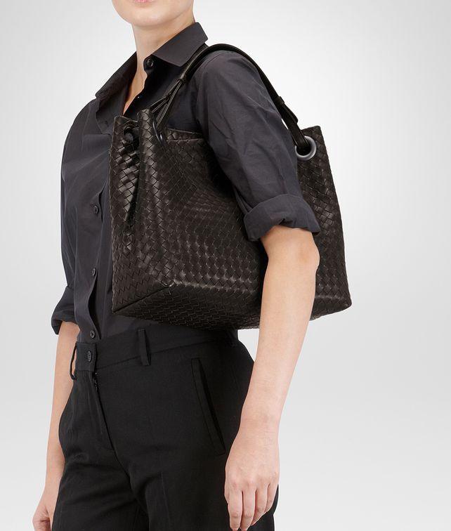 BOTTEGA VENETA LIGHT GRAY INTRECCIATO NAPPA MEDIUM GARDA BAG Shoulder Bag  Woman fp 85c97dfb0ef0e