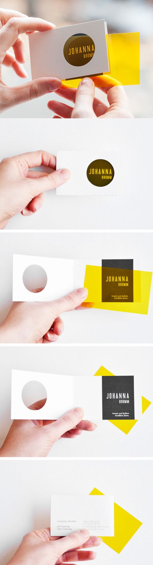 Clever Interactive Die Cut Business Card Design
