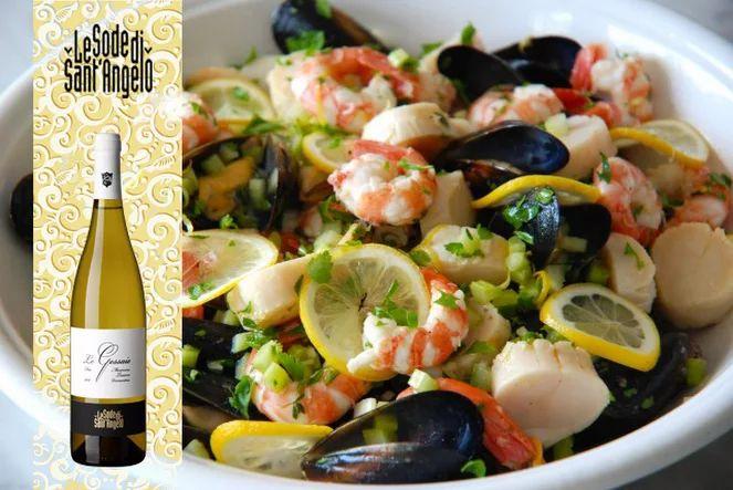 Vermentino LeGessaie + insalata di mare