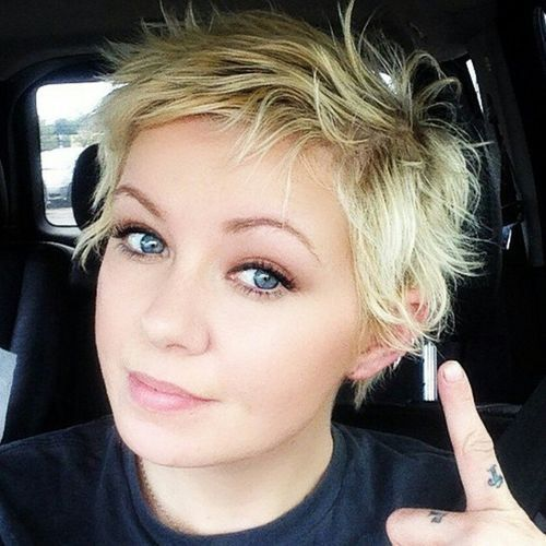 short edgy hairstyle for fine hair