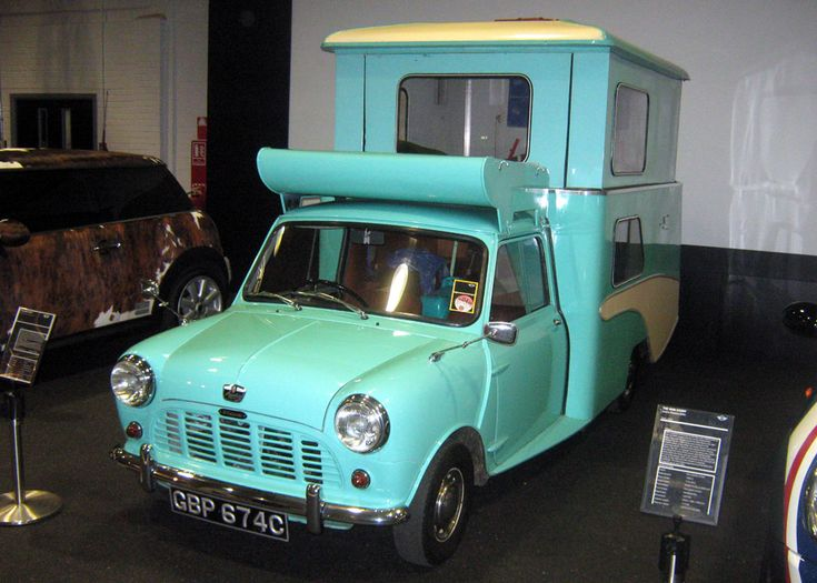 wildgoose camper based on a mini van this one is at the bmw plant in oxford
