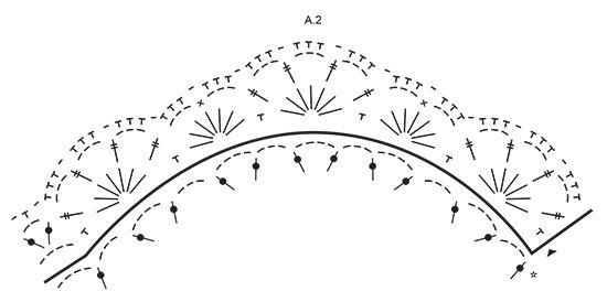 """Sparkle & Shine - Navidad DROPS: Blonda DROPS en ganchillo en """"Belle"""" y tapete para el árbol de Navidad en """"Eskimo"""" con estrella y patrón de abanicos. - Free pattern by DROPS Design"""