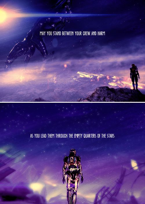 It's an old ship captain's prayer. #masseffect