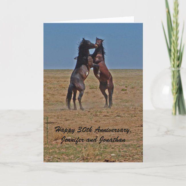 Happy Anniversary Dancing Horses Click Up Yr Heels Card Zazzle Com Grandparents Card Happy 35th Anniversary Horse Cards