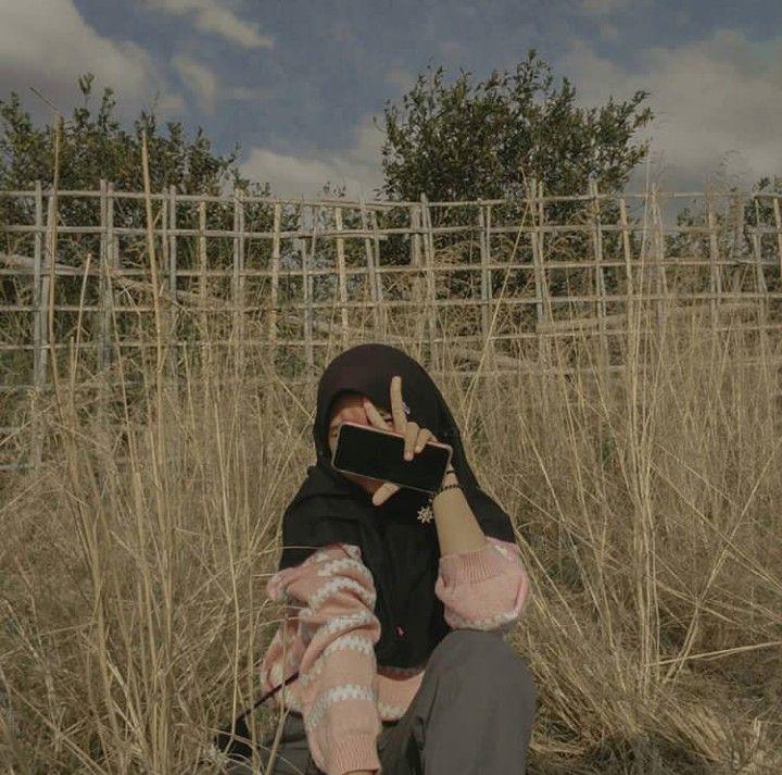 Hijab Aesthetic Potret Diri Fotografi Teman Foto Teman