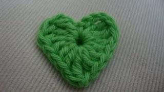 Hæklet hjerte. Lynhurtigt at lave