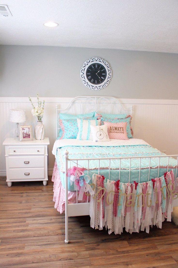 Always Enchanting Pink/Gold Bed Skirt #BedroomIdeas #Beds