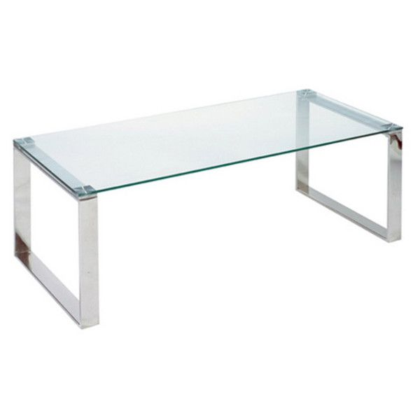 Cortesi Home Remi Contemporary Chrome Glass Coffee Table 159 Liked On Polyvore Featuring Home