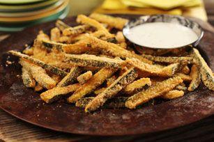 "Baked Panko Coated Zucchini ""Fries"""