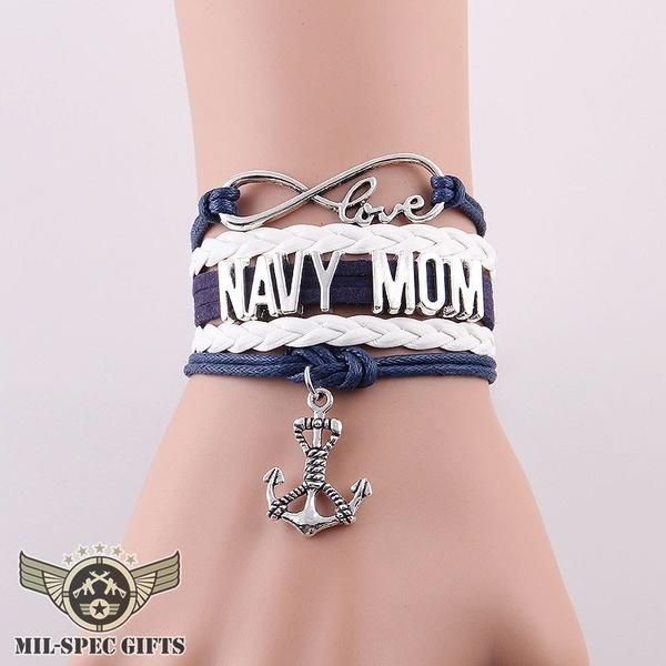 Love US Navy Mom Bracelet