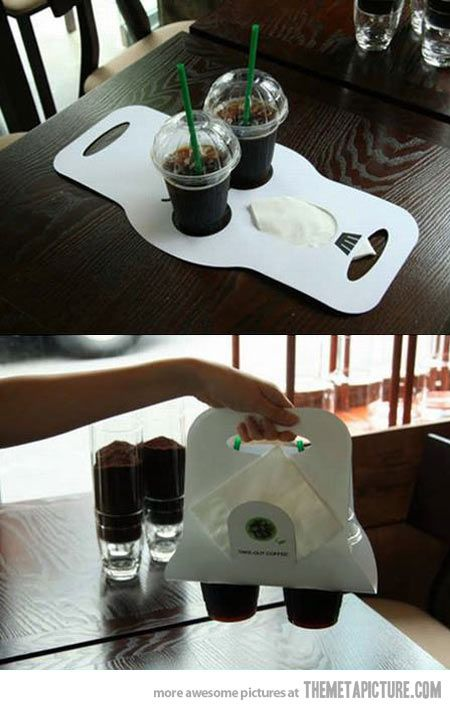 All coffee shops should have this… For sure then I could get two cups at the same time for me....lol