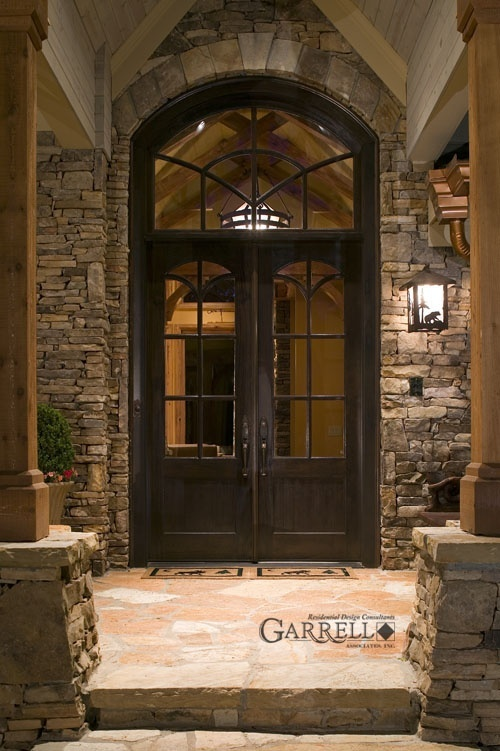 I love this front entry especially the door!