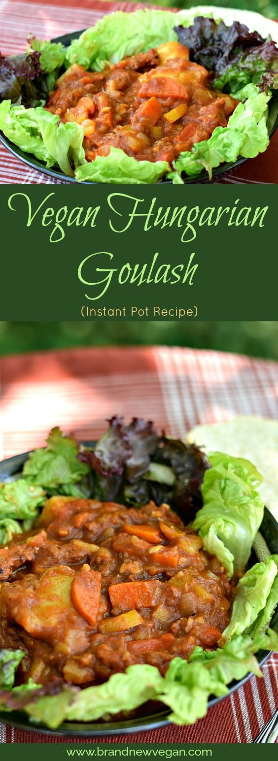 So what does a Food Blogger do when it's 106 outside? He makes this Vegan Hungarian Goulash in his Instant Pot! One pot, cool kitchen, delicious food!