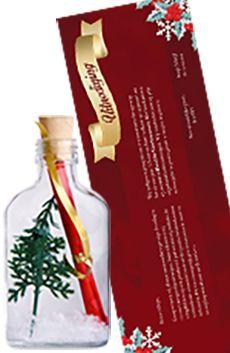 Flessenpost - Kerstkaarten en uitnodigingen voor kerstfeest en kerstborrel....  #originele #uitnodiging #diy #invitations #event #personeelsfeest #kerstfeest #zakelijk #personaliseren #nieuwjaar