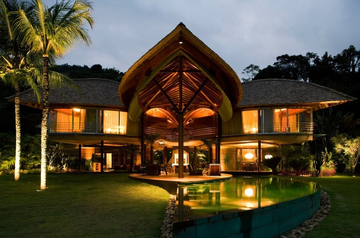 Tropical house design, Rio de Janiero, Brazil: The Most Beautiful Houses in the World