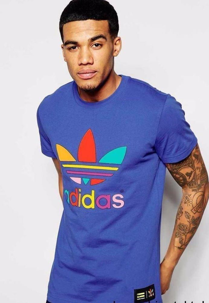 447c65748e1b1 Adidas Originals Trefoil Men s Pharrell Williams Blue T shirt Gym Top Tee  XS L  adidasOriginals  GymTshirt