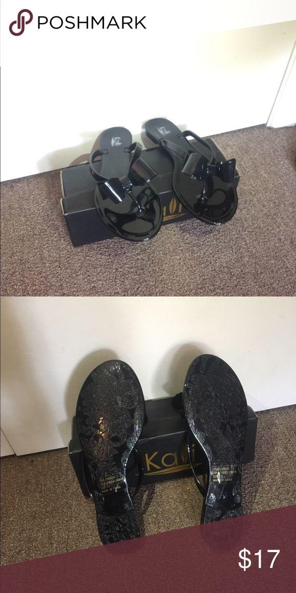 Black Ribbon sandals Black ribbon sandals size 10 Shoes Sandals
