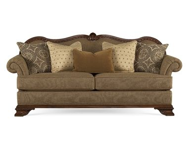 Shop for ART Furniture Sofa, 143501-5006AA, and other Living Room Sofas at Goods Home Furnishings in North Carolina Discount Furniture Stores Outlets. Warm gold texture is accented contrasting down blend toss pillows in cream chenille medallion and gold fleur de lis. This look creates the perfect marriage to the carved wood details on this sofa.