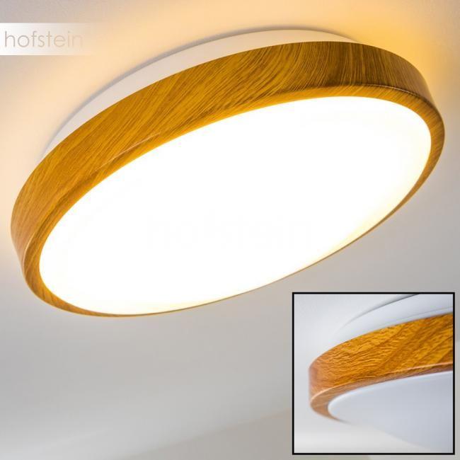davon mehrere Kreislampen an der Decke!  Sora Wood Deckenlampe LED Holz hell, Weiß H168449