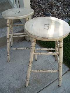 Thepaintedcupboard: Bar Stool Re Do.